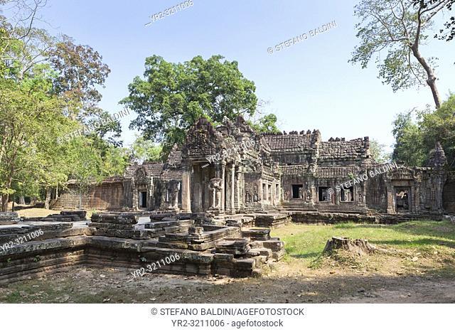 Prasat Preah Khan temple ruins, Angkor, Siem Reap, Cambodia