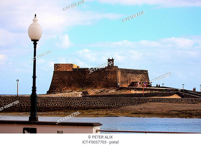 Spain, Canary islands, Lanzarote, Arrecife, castillo de San Gabriel
