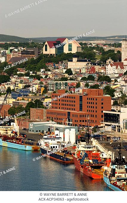 View of harbour and waterfront, St. John's, Newfoundland and Labrador, Canada