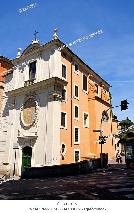 Church along a street, Rome, Lazio, Italy