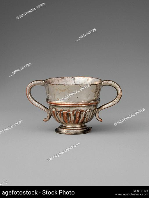 Miniature cup. Date: late 18th century; Culture: possibly British, Sheffield; Medium: Silver-plated copper; Dimensions: 1 3/16 x 2 in. (3 x 5