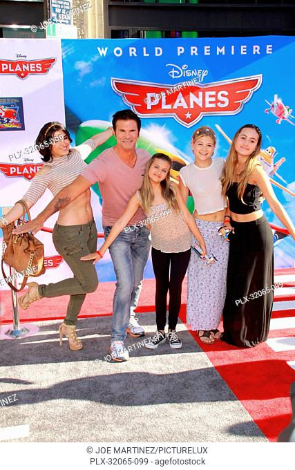 Lorenzo Lamas with his wife Shawna Craig and family at the World Premiere of Disney's Planes. Arrivals held at El Capitan Theatre in Hollywood, CA, August 5