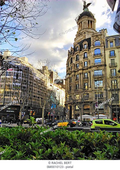 Buildings in Passeig de Gràcia, Barcelona, Catalonia, Spain