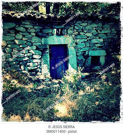 Old house in La Lobera, Navaluenga, Avila province, Spain