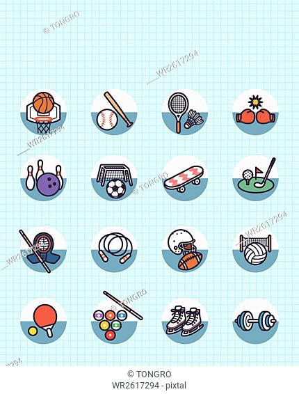 Various icons related to exercise