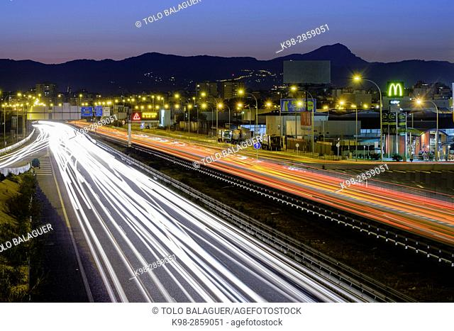 Ma-19 ,Autopista de Levante , Palma, Mallorca, balearic islands, spain, europe