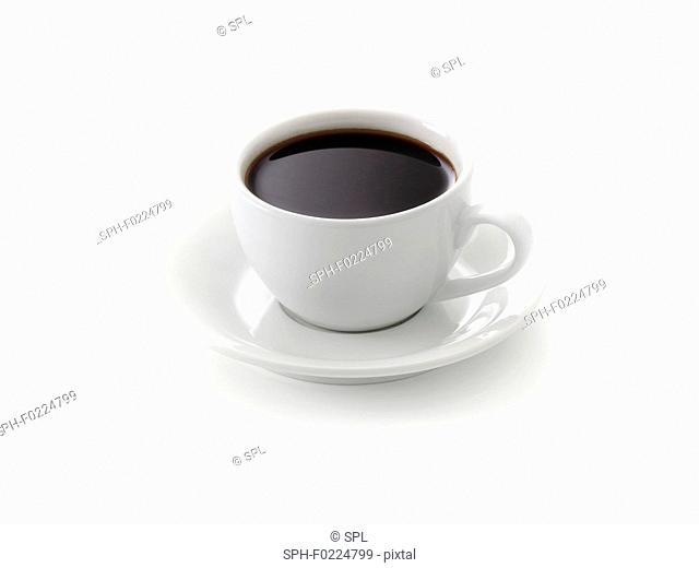 Black coffee in coffee cup