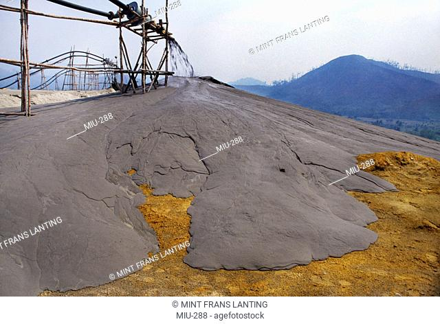 Tailings from copper mine near Mount Kinabalu National Park, Sabah, Borneo