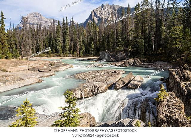 Natural Bridge and Kicking Horse River in the Yoho National Park, British Columbia, Canada