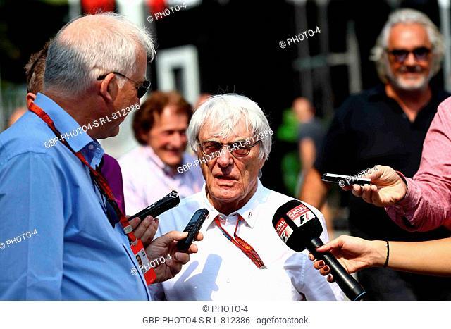 02.09.2016 - Free Practice 2, Bernie Ecclestone (GBR), President and CEO of FOM