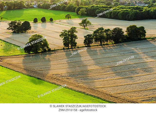 Summer evening in South Downs National Park near Worthing, East Sussex, England