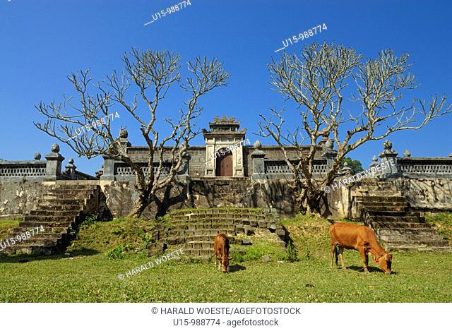 Asia, Vietnam, Hue  Royal tomb of Dong Khanh  Designated a UNESCO World Heritage Site in 1993, Hue is honoured for its complex of historic monuments  Seven...