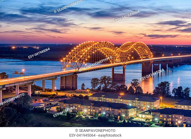 Memphis, Tennessee, USA at Hernando de Soto Bridge