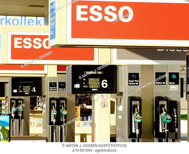 Esso gas station, Switzerland