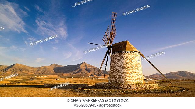 Windmill Tefia La Oliva Fuerteventura Canary Islands Spain