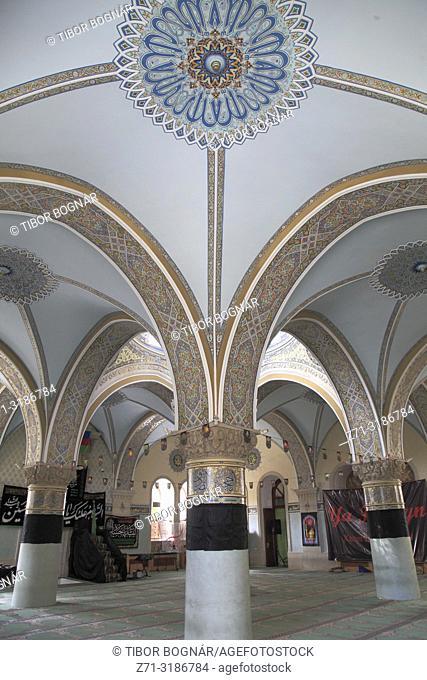 Azerbaijan; Baku, Old City, Cuma Mosque, Friday Mosque, interior,