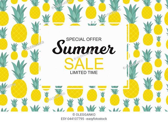 Summer Sale concept. Vector Illustration EPS10