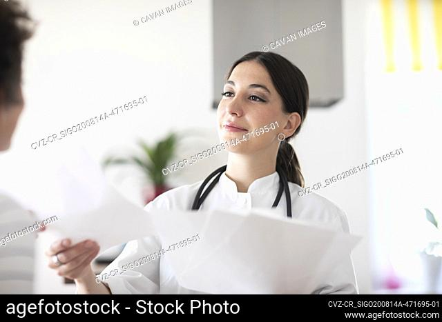 young female doctor in a practice