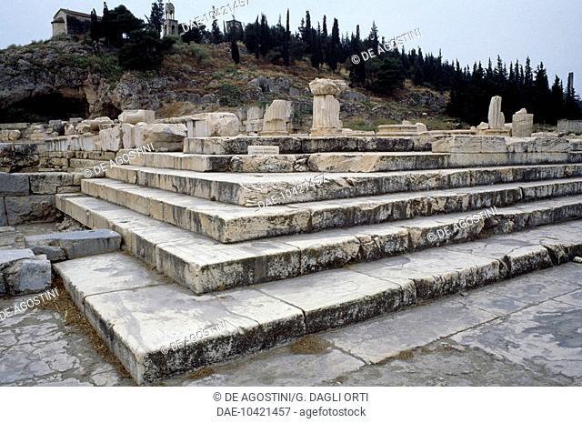Ruins of the Great Propylaea, Sanctuary of Eleusis, Greece. Greek civilisation