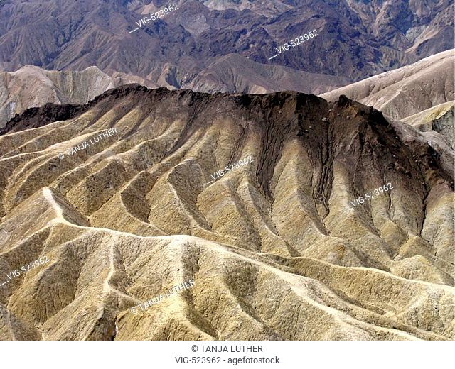 Zabriskie Point. - Death Valley, California, USA, 09/09/2006