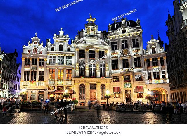 Guildhalls on Grand Place (Grote Markt) the central square of Brussels it's most important tourist destination and the most memorable landmark in Brussels...