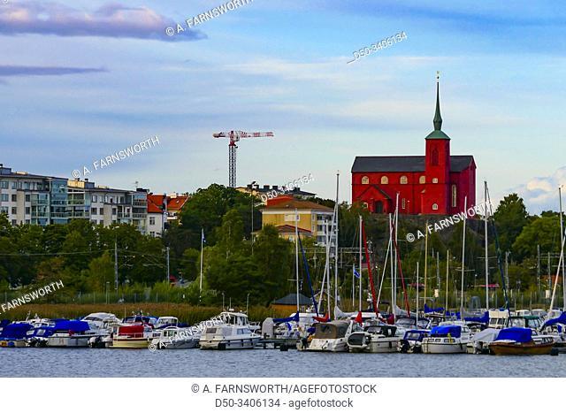 Nynashamn, Sweden The Nynashamn Church and harbor