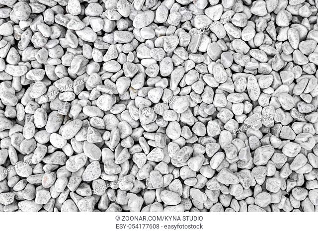 White and gray pebbles ideal for textures and backgrounds