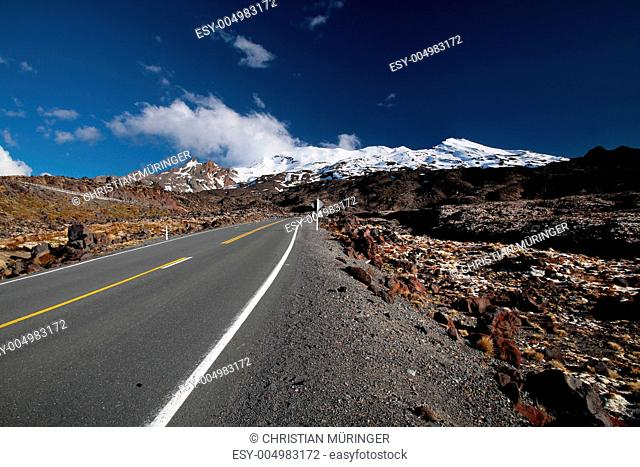 Strasse zum Mount Ruapehu