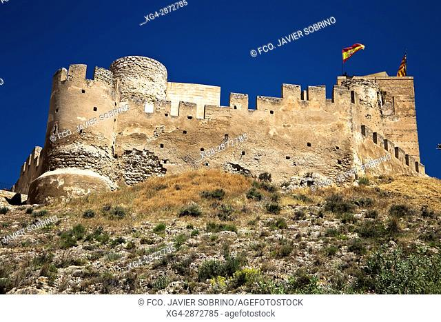 Castillo de Biar. Comarca del Alto Vinalopó. Alicante. Comunidad Valenciana. España. Europa
