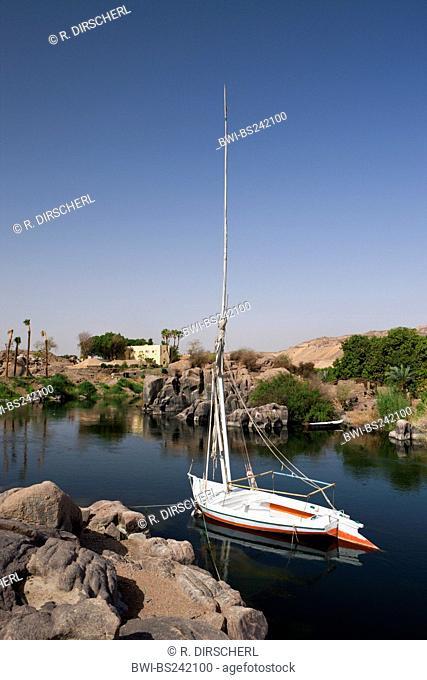 Felucca on Nile River, Egypt, Assuan