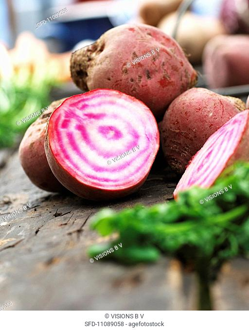 Beetroot, partially sliced