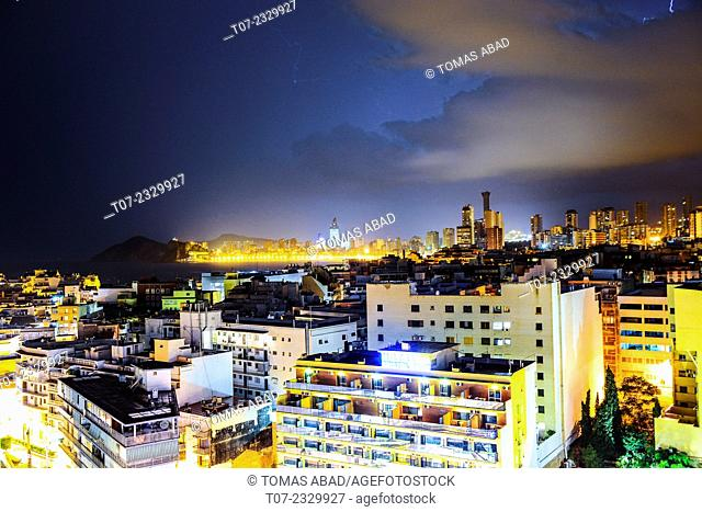 Midtown of Benidorm, Province of Alicante, Costa Blanca, Western Mediterranean Sea, Southern Spain