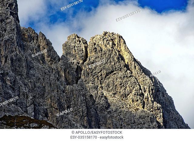 Peaks Rotwandspitzen, Sesto, Sexten Dolomites, South Tyrol, Trentino-Alto Adige, Italy