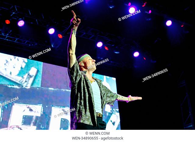 Benjamin Haggerty known by his stage name Macklemore performs live on stage at Rock in Roma 2018 festival Featuring: Macklemore Where: Rome