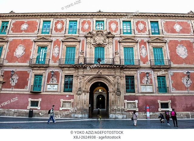 Spain, Murcia region, Murcia, Plaza del Cardenal Belluga