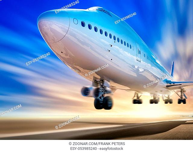 take off of an modern airliner