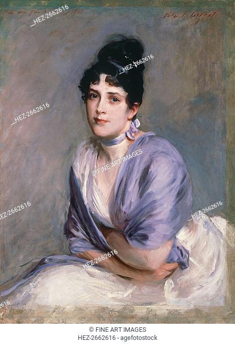 Portrait of Elizabeth Lily Millet, née Merrill (1853-1932), ca 1885