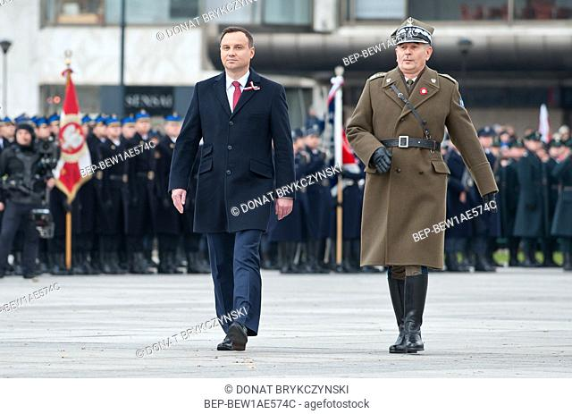 November 11, 2015 Warsaw, Poland. National Independence Day.Pictured: Andrzej Duda