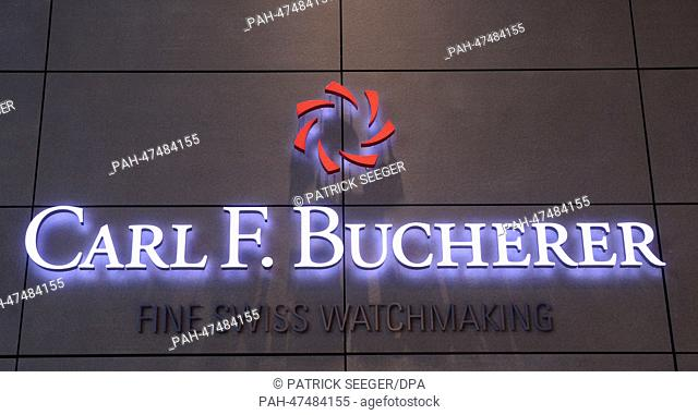 View of the Swiss watch manufacturer Carl F. Bucherer at the Baselworld international watch and jewellery fair in Basel, Switzerland, 28 March 2014