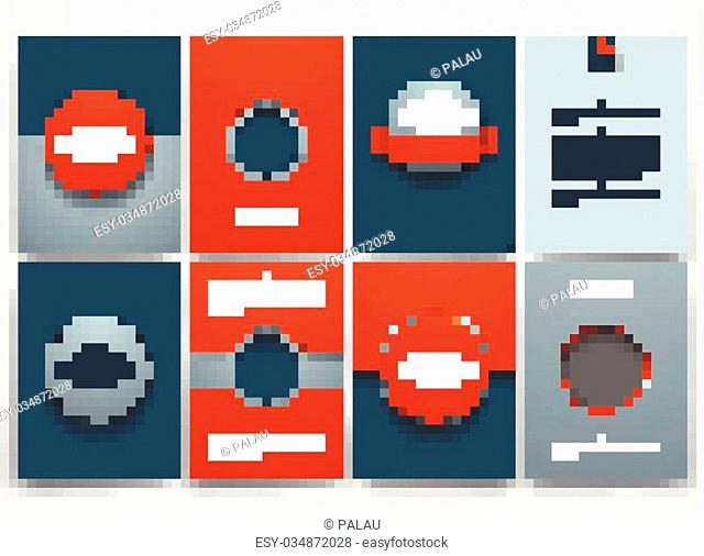 Vector design brochures with doodles backgrounds on three d printer theme