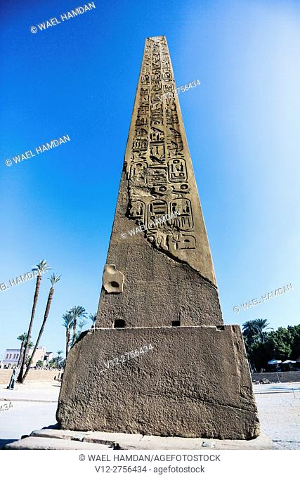 Obelisk of Karnak temple, Luxor city, Egypt