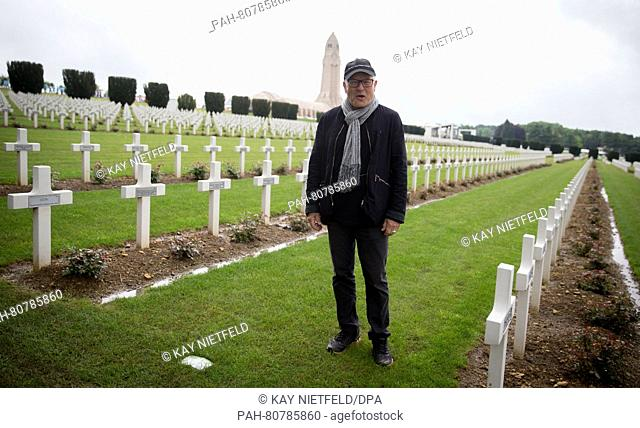 Director Volker Schloendorff at the National Necropolis Douamont near Verdun, France, 29 May 2016. Schloendorff directed the ceremony for the commemoration for...