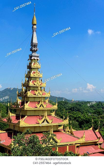 Mya Nan San Kyaw Palace. Mandalay, Myanmar