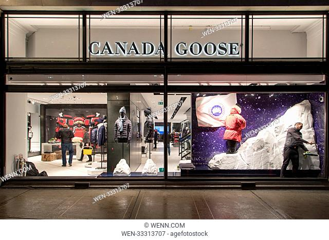 A window is seen to havve been smashed at Canada Goose, Regent Street following a robbery just after 1am this morning. This attack follows a similar raid at...