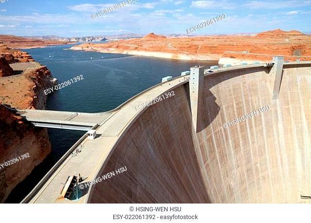 Glen Canyon Dam, Arizona. USA
