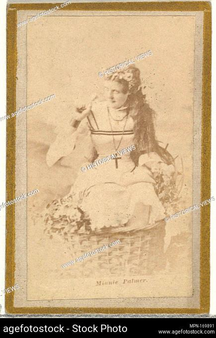 Minnie Palmer, from the Actresses and Celebrities series (N60, Type 2) promoting Little Beauties Cigarettes for Allen & Ginter brand tobacco products