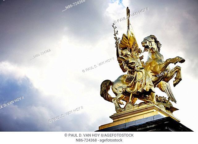 Pont Alexandre III statue, Paris, France