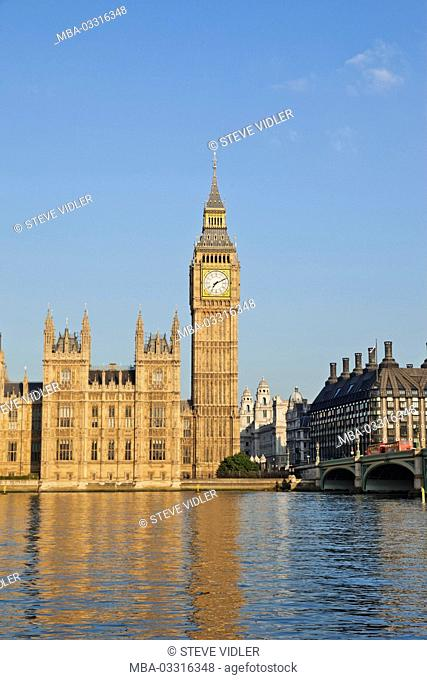 England, London, Westminster, Big Ben and Houses of Parliament