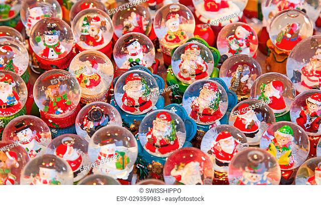 Colorful Christmas market in Strasbourg, Alsace, France