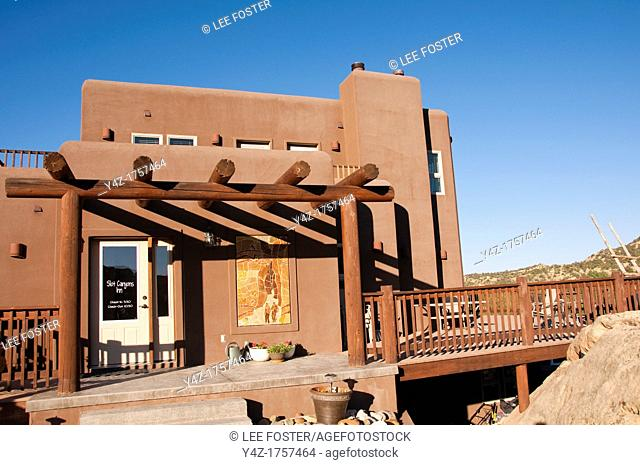 USA, Utah, restaurant North Creek Grill at Slot Canyon Inn in Escalante, run by Adam and Kristen Rex, with grilled steak a specialty